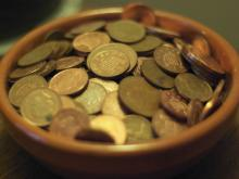 Bowl of coins